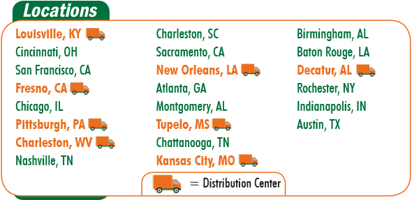 ORR Safety has safety equipment distribution centers all over the United States.